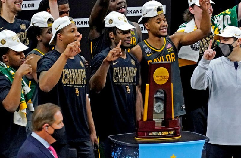 March Madness Odds: Baylor wins title, Gonzaga opens 2021-22 favorite