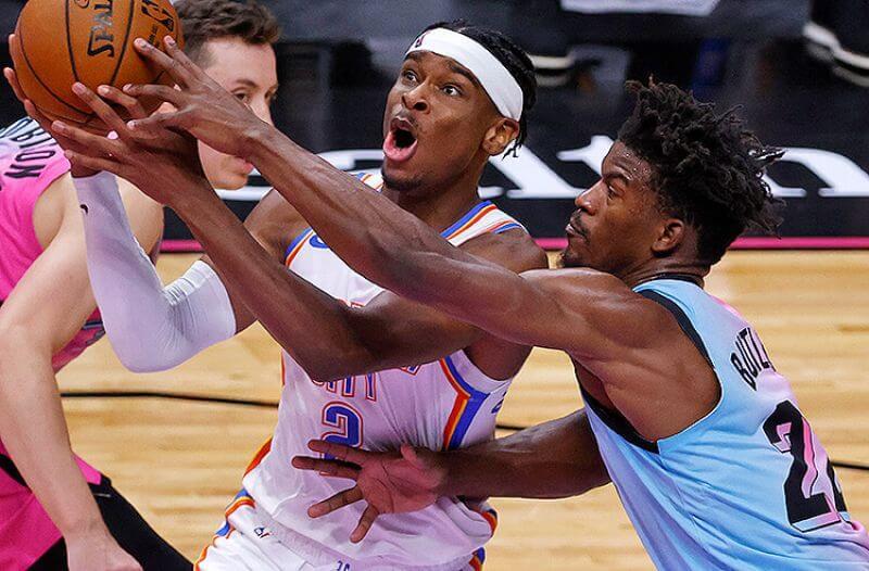 Jimmy Butler Miami Heat Shai Gilgeous-Alexander Oklahoma City Thunder NBA