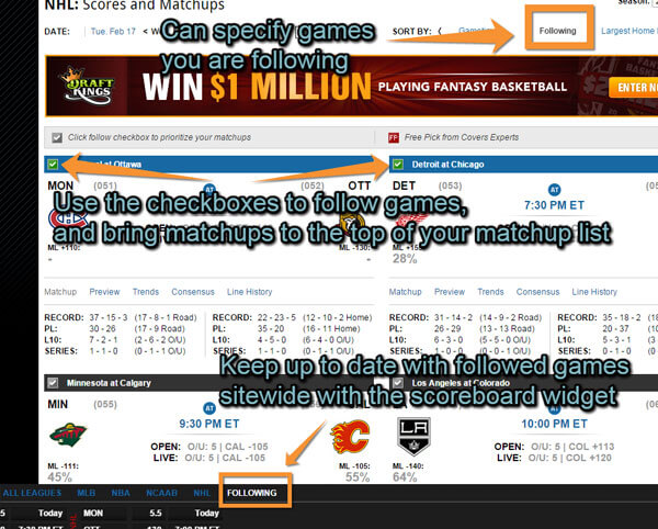 Covers' hands our new scoreboards over to you - the sports bettor