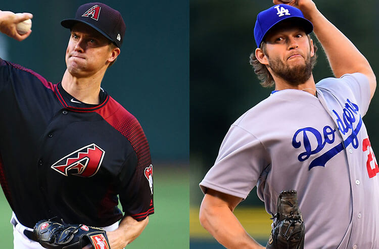 Image result for dodgers vs diamondbacks kershaw vs greinke pictures