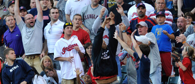 Indians fan defies odds; catches four foul balls in one game