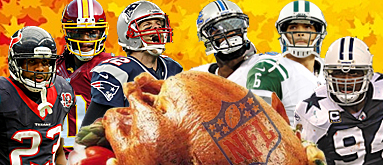 NFL Thanksgiving: Expert team bloggers give thanks