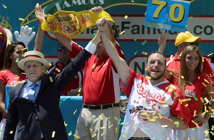 Gorge yourself on these Nathan's Hot Dog Eating Contest betting odds