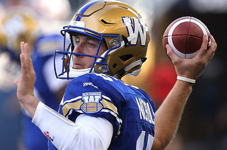 Saturday's CFL betting preview and odds: Blue Bombers at Tiger-Cats