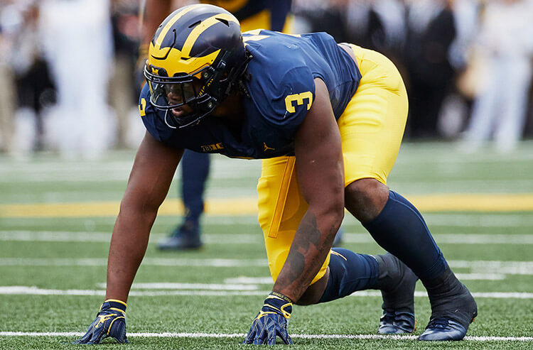 Wolverines' defense gets their teeth back, and today's college football odds and analysis