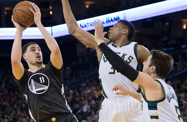 Greek Freak vs Warriors means another massive total, and today's NBA odds and analysis