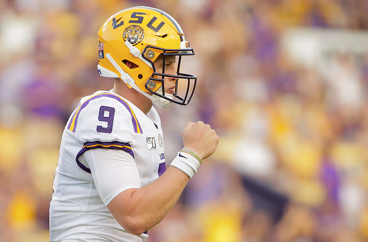 College football national title and Heisman odds update: Burrow has Tigers in hunt for national title