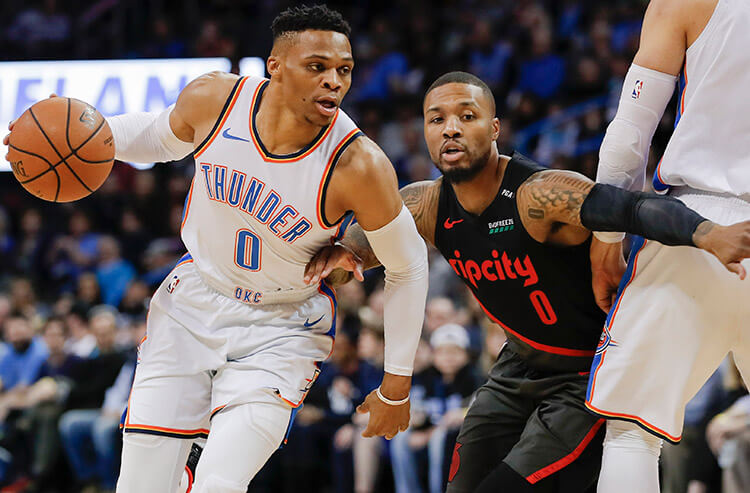 8184705d509 NBA Playoffs best bets and prop predictions  First half points hard to come  by for Thunder and Blazers